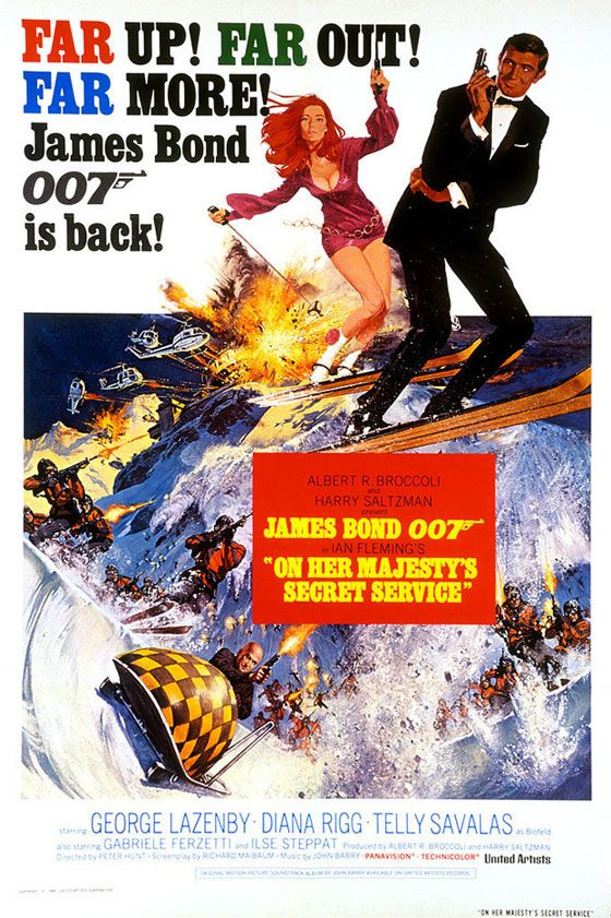 James Bond 007 On Her Majesty's Secret Service Poster