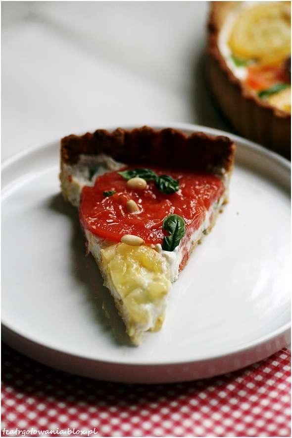 tarta amore pomidore pomidory ser kozi bazylia