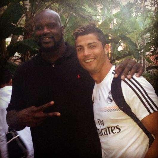 Cristiano Ronaldo y Shaquille O'Neal