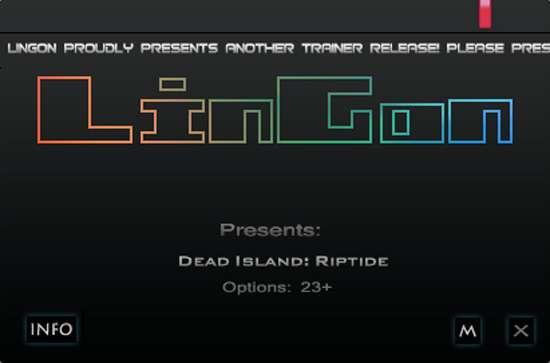 Dead Island: Riptide v1.4.1.1.10 Steam +23 Trainer [LinGon]