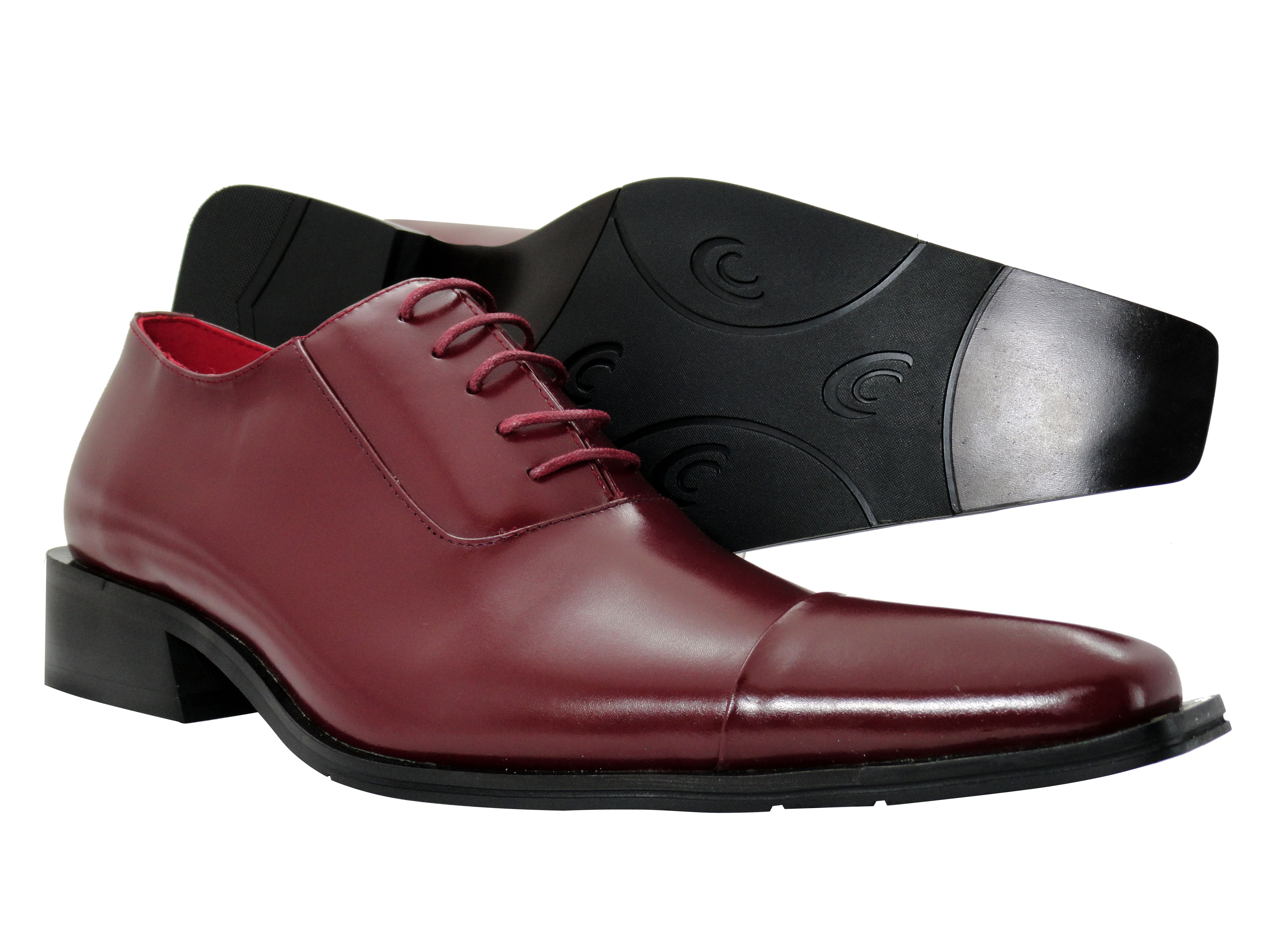 mens dress shoes zota burgundy wine oxford lace up leather