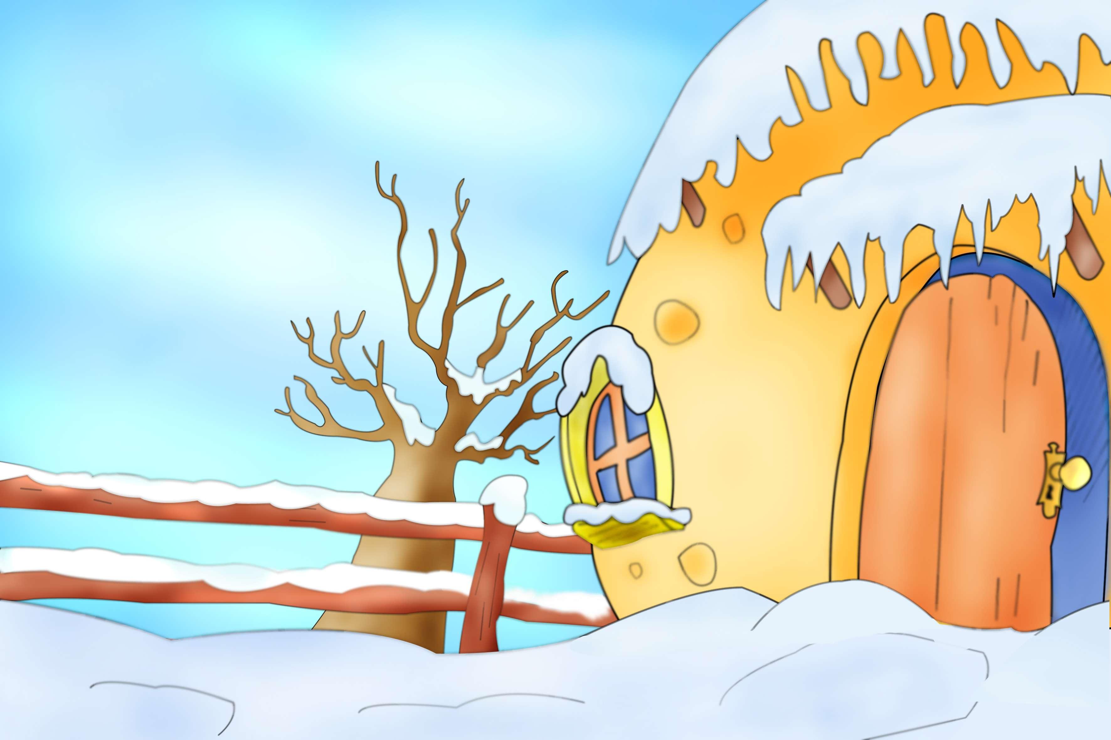 Paisajes de invierno infantiles - Imagui