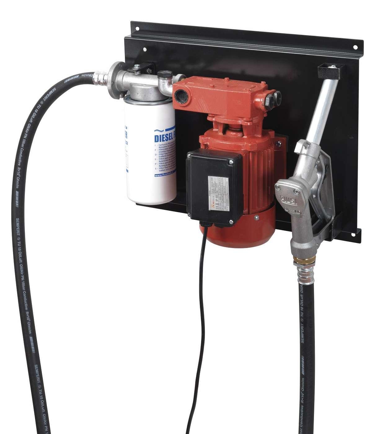 station kit pompe gasoil diesel murale 0 8hp filtre pistolet tuyau prkg120 ebay. Black Bedroom Furniture Sets. Home Design Ideas